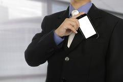 Fermez-vous vers le haut de l'homme d'affaires de torse dans le costume formel Image stock