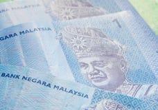 Fermez-vous vers le haut de l'image des billets de banque de devise de ringgit malaisien Photo libre de droits