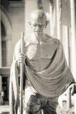 Fermez-vous vers le haut de l'image de la statue de Mahatma Gandhi Images libres de droits