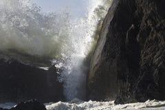 Fermez-vous vers le haut de l'onde de collision Photo libre de droits