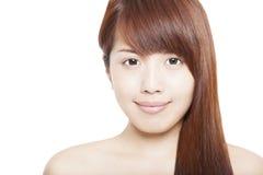 Fermez-vous vers le haut de la beauté asiatique Photo libre de droits