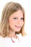 Fermez-vous vers le haut de la belle fille d'Américain de 10 ans Image libre de droits