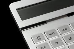 Fermez-vous vers le haut de la calculatrice photo libre de droits