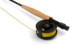 Canne à pêche de mouche Photographie stock libre de droits