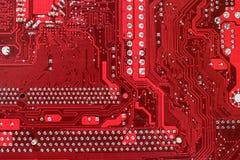 Fermez-vous vers le haut de la carte mère de circuit d'ordinateur Photos libres de droits