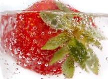 Fermez-vous vers le haut de la fraise Photographie stock