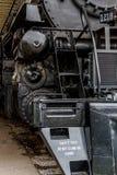Fermez-vous vers le haut de la locomotive actionnée par courant Image libre de droits