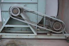 Fermez-vous vers le haut de la machine de ceinture Photo stock