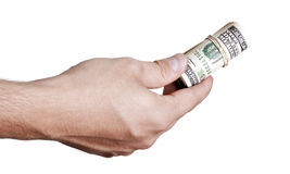 Donner dehors l'argent liquide Photographie stock libre de droits