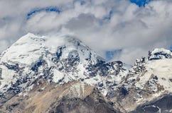 Fermez-vous vers le haut de la montagne de l'Himalaya du monastère de Kasha Photographie stock