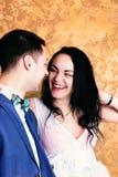 Fermez-vous vers le haut de la photo d'un couple heureux Image libre de droits