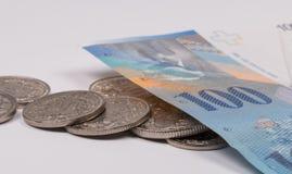 Fermez-vous vers le haut de la photo du franc suisse Photo libre de droits