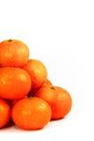 Fermez-vous vers le haut de la pile de la mandarine fraîche photos stock
