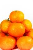 Fermez-vous vers le haut de la pile de la mandarine fraîche photo libre de droits