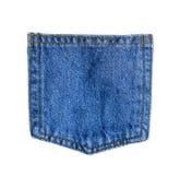 Fermez-vous vers le haut de la poche de jeans de denim Photographie stock