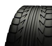 Fermez-vous vers le haut de la semelle de pneu Photo libre de droits