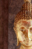 Fermez-vous vers le haut de la statue de Bouddha, visage Photos libres de droits