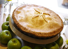 Fermez-vous vers le haut de la tarte aux pommes Image libre de droits
