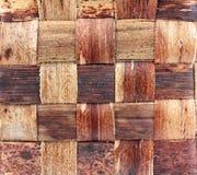 Fermez-vous vers le haut de la texture brune de tresse photos libres de droits