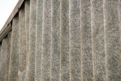 Fermez-vous vers le haut de la texture de toit d'amiante Image stock