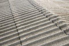 Fermez-vous vers le haut de la texture de toit d'amiante Photo libre de droits