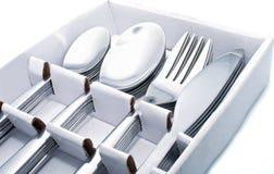 Fermez-vous vers le haut de la vaisselle plate Image stock