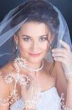 Fermez-vous vers le haut de la verticale de la mariée Photo libre de droits