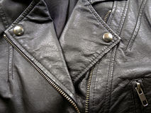 Fermez-vous vers le haut de la veste en cuir Photos stock