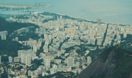 Fermez-vous vers le haut de la vue à partir du dessus de Rio de Janeiro Photo stock