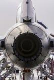 Fermez-vous vers le haut de la vue arrière du moteur à réaction Photographie stock libre de droits