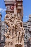 Fermez-vous vers le haut de la vue de la sculpture en shiva de seigneur, caisse enregistreuse électronique, Chennai, Tamilnadu, I Photo stock