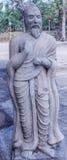 Fermez-vous vers le haut de la vue de la sculpture en Thiruvalluvar, caisse enregistreuse électronique, Chennai, Tamilnadu, Inde, Images stock