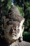 Fermez-vous vers le haut de la vue de la statue de Bouddha, Angkor Vat Image libre de droits