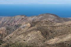 Fermez-vous vers le haut de la vue du Golfe de Tadjoura d'Arta, Djibouti, Afrique de l'Est Photographie stock