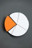 Fermez-vous vers le haut de la vue du graphique circulaire d'affaires Image stock