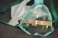 Fermez-vous vers le haut de la vue du masque protecteur de l'oxygène Photo stock