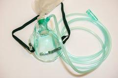 Fermez-vous vers le haut de la vue du masque protecteur de l'oxygène Images stock
