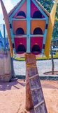 Fermez-vous vers le haut de la vue du nid en bois d'oiseau, caisse enregistreuse électronique, Chennai, Tamilnadu, Inde, le 29 ja Photos stock