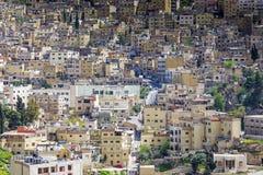 Fermez-vous vers le haut de la vue du secteur d'Al Yarmouk à Amman, Jordanie Photo stock
