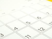 Fermez-vous vers le haut de le 4ème juillet à la page de calendrier, concept américain de jour national de Jour de la Déclaration Photo stock