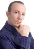 Fermez-vous vers le haut de Portret d'homme d'affaires Photographie stock libre de droits