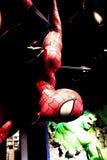 Fermez-vous vers le haut de Spiderman Photo stock