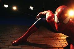 Fermez-vous vers le haut de Spiderman, musée de Madame Tussauds Images stock