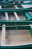 Fermez-vous vers le haut des bateaux en bois Photo libre de droits