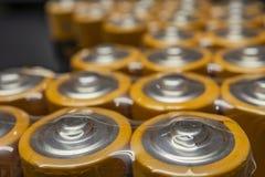 Fermez-vous vers le haut des batteries pour des appareils électroniques image libre de droits