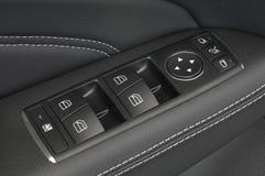 Fermez-vous vers le haut des boutons d'un panneau de commande de trappe de véhicule Illustration de Vecteur