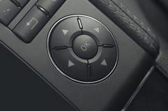 Fermez-vous vers le haut des boutons d'un véhicule Photos libres de droits
