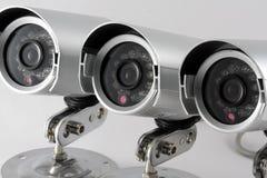 Fermez-vous vers le haut des caméras de sécurité Image stock