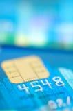 Fermez-vous vers le haut des chiffres par la carte de crédit Image stock