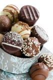 Fermez-vous vers le haut des chocolats Image libre de droits